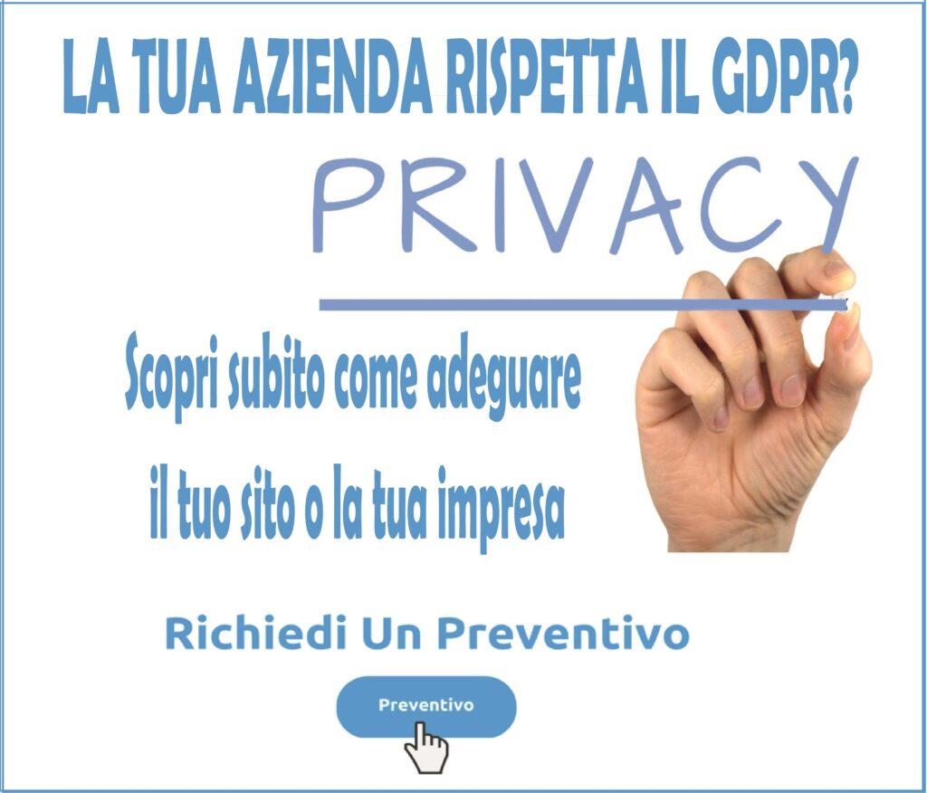 preventivo gdpr dpo privacy compliance consulenza sito web